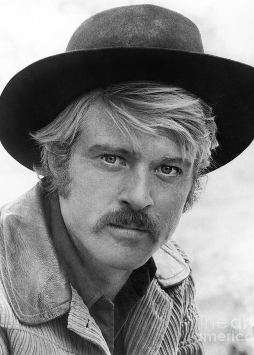 1969 Greeting Card featuring the photograph Robert Redford (1936-) by Granger