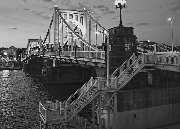 Pittsburgh Greeting Card featuring the photograph Roberto Clemente Bridge by Dirk VandenBerg