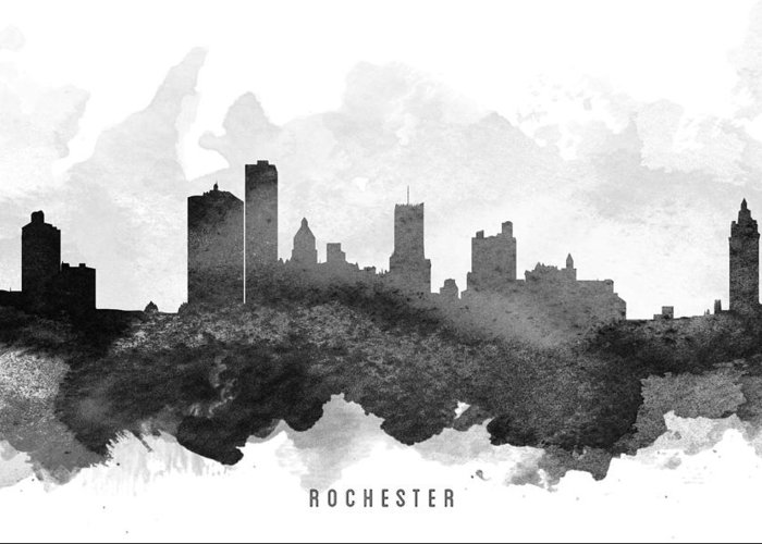 Rochester Skyline Greeting Cards