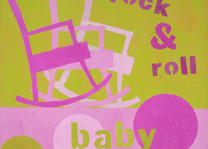 Painting For Nursery Greeting Card featuring the painting Rock And Roll Baby by Laurie Breen