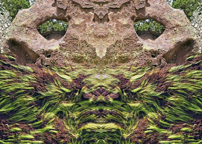 Holes In Sandstone Digital Art Greeting Cards