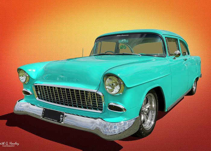 Car Greeting Card featuring the photograph Rock N Roll 55 by Keith Hawley