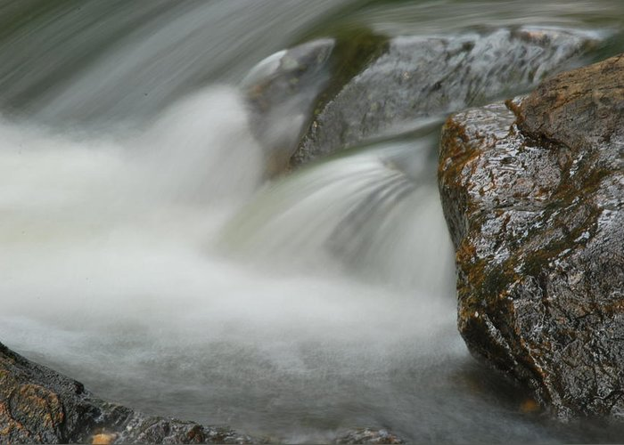 Rock Greeting Card featuring the photograph Rock-n-water by John Roncinske
