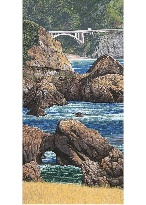 Coast Hwy Ca Paintings Greeting Cards