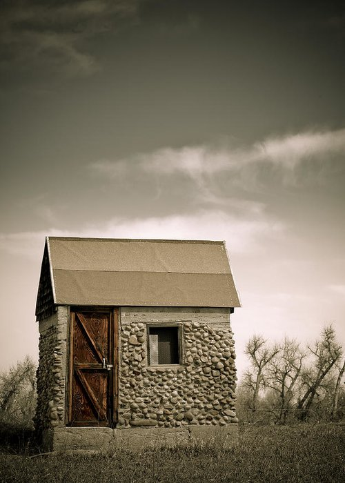 Rock Greeting Card featuring the photograph Rock Shed by Marilyn Hunt