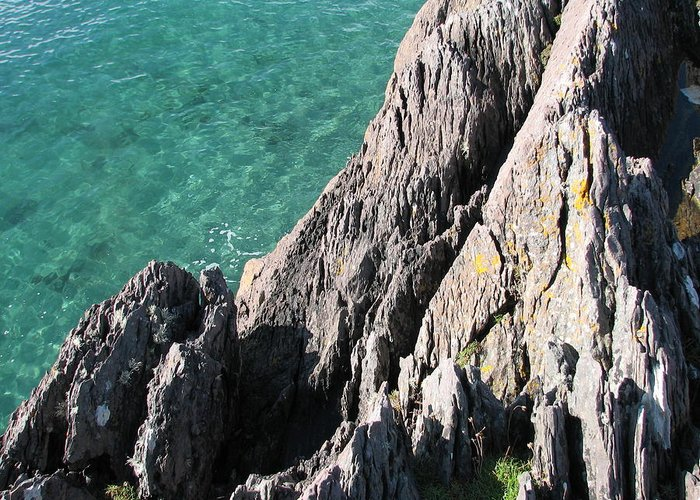 Kerry Greeting Card featuring the photograph Rocks of Kerry by Kelly Mezzapelle