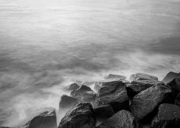 Sea Greeting Card featuring the photograph Rocks To The Ocean by Will Gudgeon