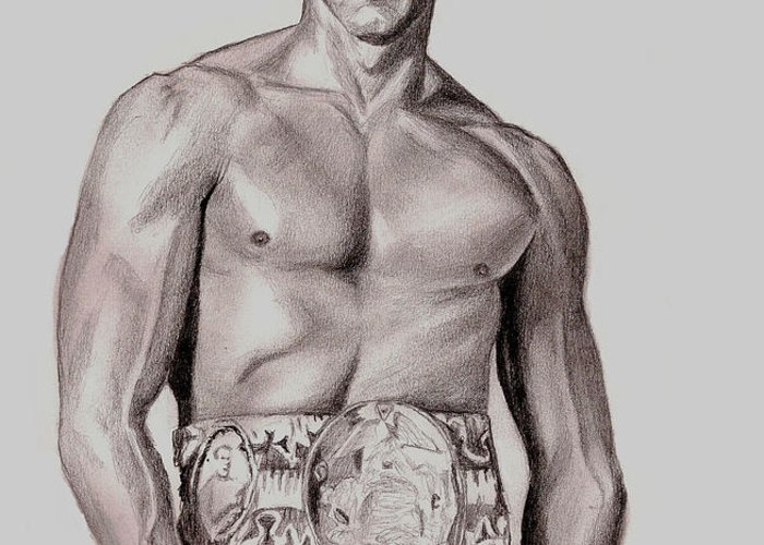 Rocky Greeting Card featuring the drawing Rocky 3 by Michael Mestas