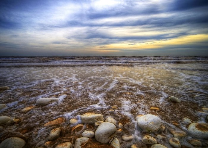 Beach Greeting Card featuring the photograph Rocky Beach by Svetlana Sewell