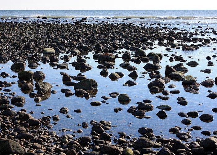 Beach Greeting Card featuring the photograph Rocky Coast by Annie Babineau