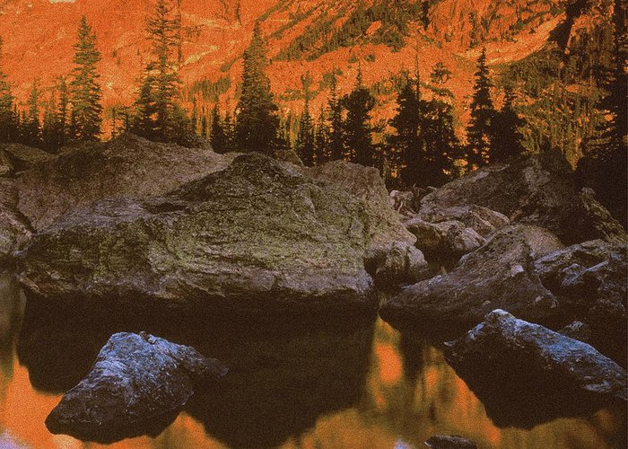 Landscape Greeting Card featuring the photograph Rocky Mountain Sunrise by Vicky Brago-Mitchell