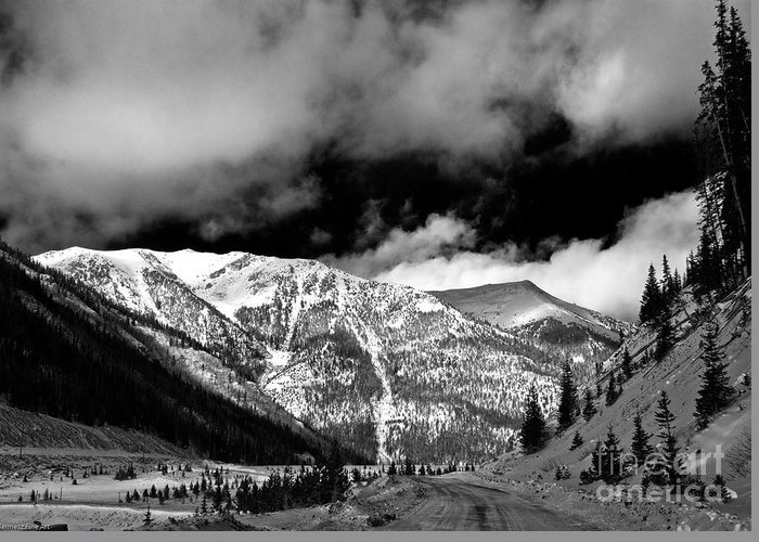Landscape Greeting Card featuring the photograph Rocky Mountian High by John Hermann