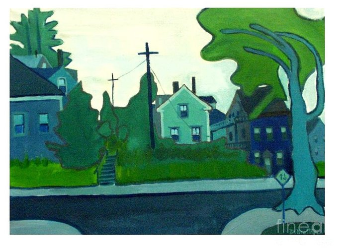 Landscape Greeting Card featuring the painting Rocky Neck Art Colony East Gloucester Ma by Debra Bretton Robinson