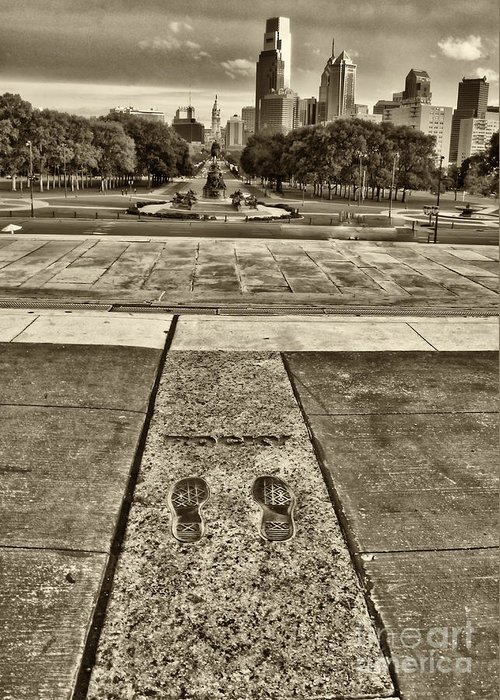 Rocky Greeting Card featuring the photograph Rocky's Footprints by Jack Paolini