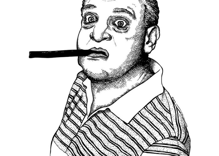 Drawing Greeting Card featuring the drawing Rodney Dangerfield by Karl Addison