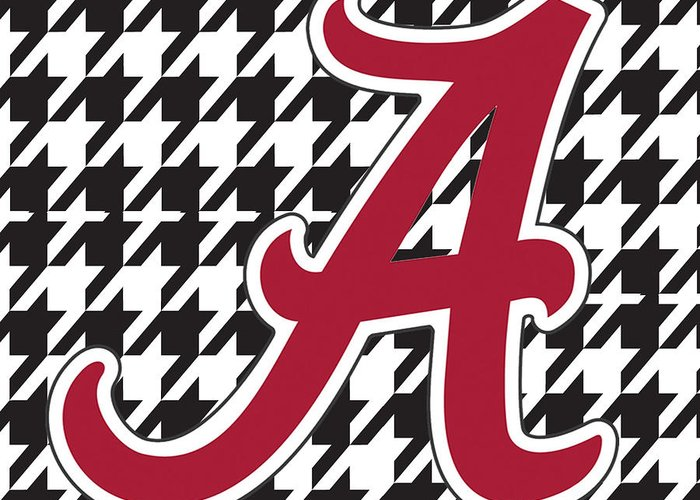 Roll Tide Greeting Card featuring the digital art Roll Tide Mini Canvas by Greg Sharpe