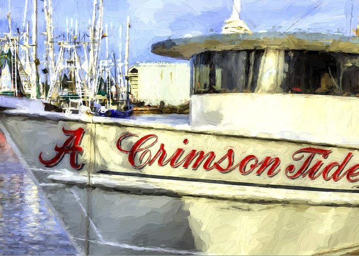 Bayou La Batre Greeting Card featuring the photograph Roll Tide Roll by JC Findley