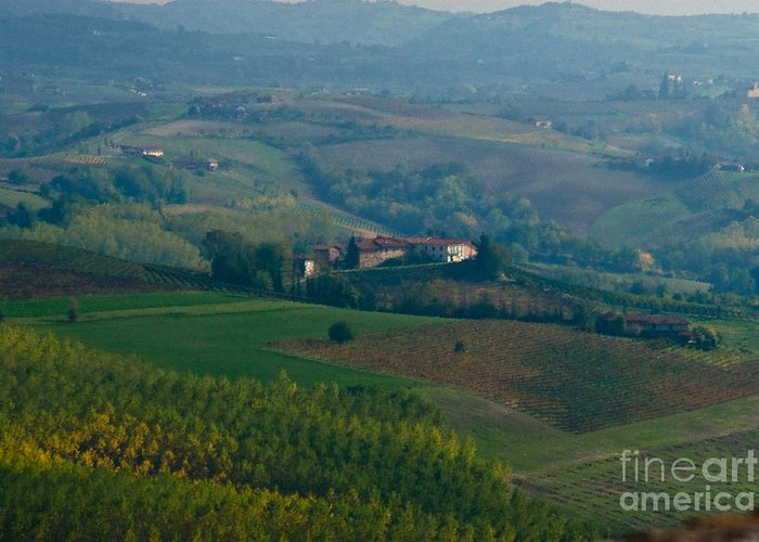 Italy Greeting Card featuring the photograph Rolling Hills Of The Piemonte Region by Carl Jackson