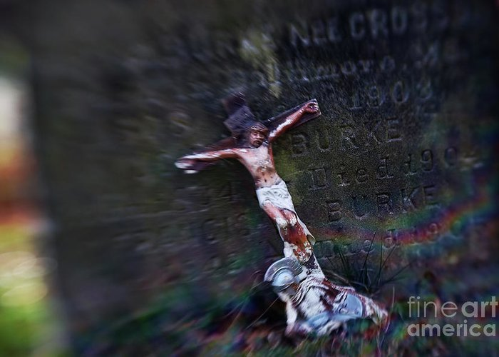 Cross Greeting Card featuring the photograph Roman And Crucifix by Susan Isakson
