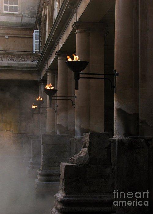 Bath Greeting Card featuring the photograph Roman Baths by Amanda Barcon