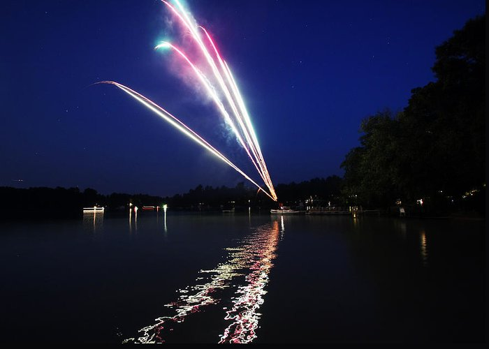 Fireworks Greeting Card featuring the photograph Roman Candle by Ty Helbach