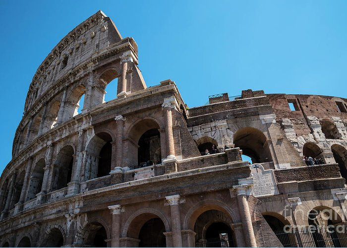 The Colosseum Of Rome Greeting Card featuring the photograph The Colosseum Of Rome by Brenda Kean