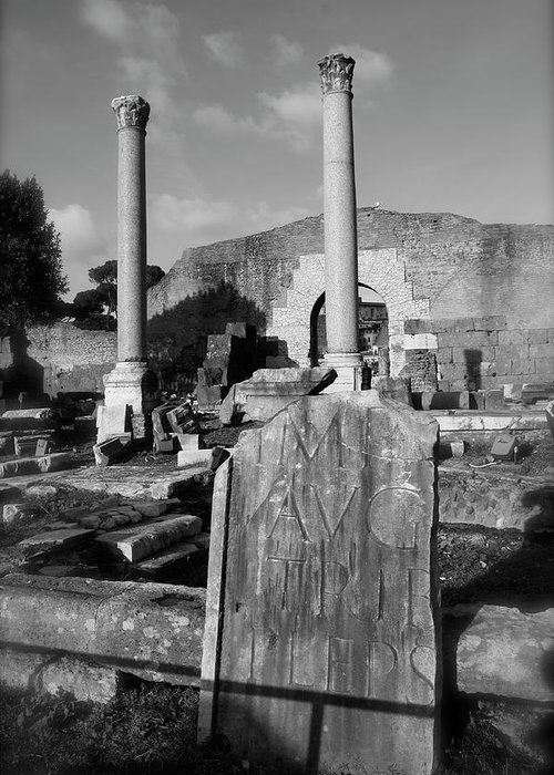 Rome Greeting Card featuring the photograph Roman Forum by Jason Wolters