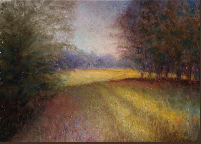 Lanscape Greeting Card featuring the painting Romance Trail by Susan Jenkins