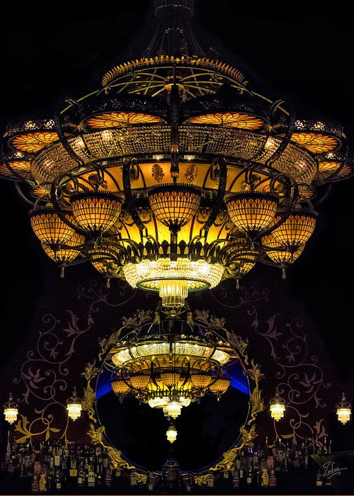 Chandelier Greeting Card featuring the photograph Romanov's Chandelier by Endre Balogh