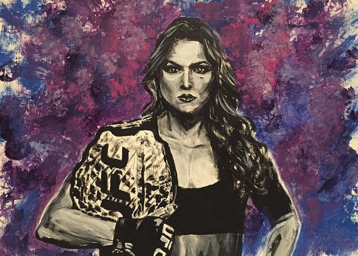 Ronda Rousey Greeting Card featuring the painting Ronda Rousey by Joel Tesch