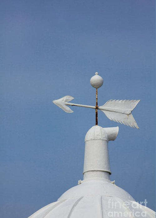 Rooftop Greeting Card featuring the photograph Rooftop Of Lighthouse by Gabriela Insuratelu