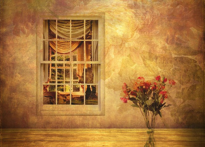 Fantasy Greeting Card featuring the photograph Room With A View by Jessica Jenney