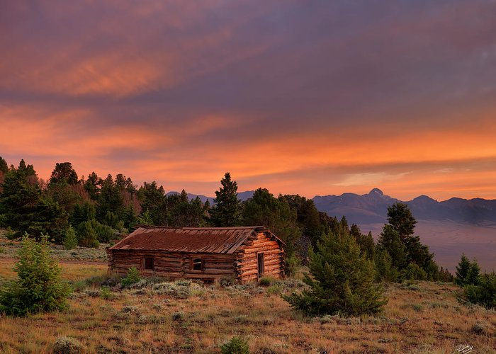 Old Cabins Photographs Greeting Cards