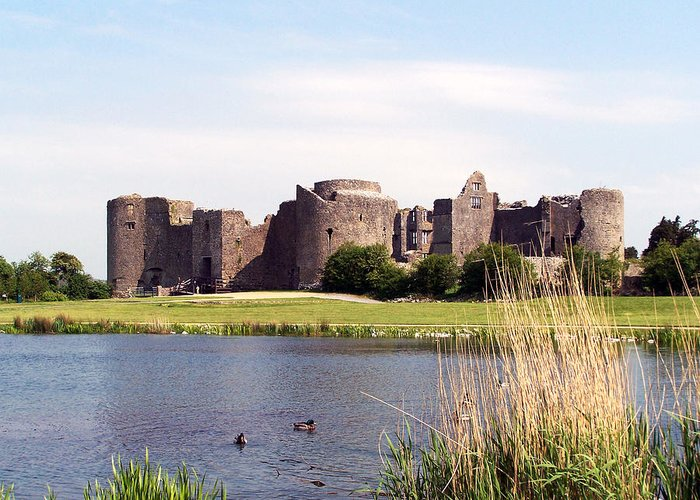 Roscommon Greeting Card featuring the photograph Roscommon Castle Ireland by Teresa Mucha