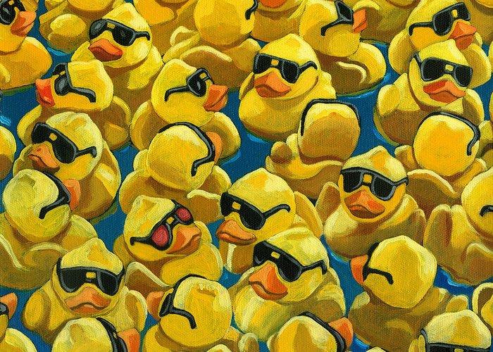 Ducks Paintings Greeting Cards