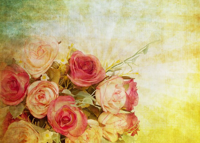 Texture Flower Paintings Greeting Cards