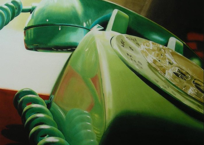 Telephone Greeting Card featuring the painting Rotary by Denny Bond