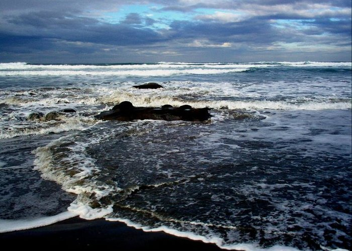 Ocean Greeting Card featuring the photograph Rough Waters by Trisha Allard