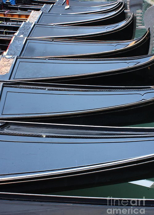Italy Greeting Card featuring the photograph Row Of Gondolas In Venice by Michael Henderson
