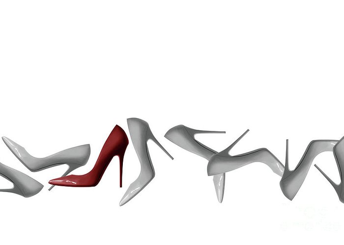 5ef317d6b0c7a Row Of Shoes Abstract - Natalie Kinnear Photography Greeting Card ...