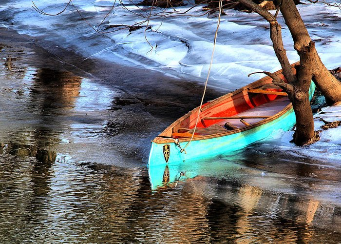 Boat Greeting Card featuring the photograph Row Your Boat by Valerie Morrison