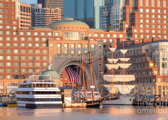 Asta Greeting Card featuring the photograph Rowes Wharf by Susan Cole Kelly