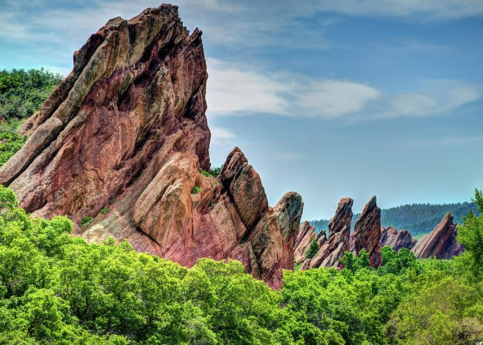 Colorado Greeting Card featuring the photograph Roxborough Park by Dave Thompsen