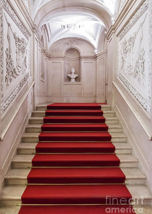 Palace Greeting Card featuring the photograph Royal Palace Staircase by Jose Elias - Sofia Pereira