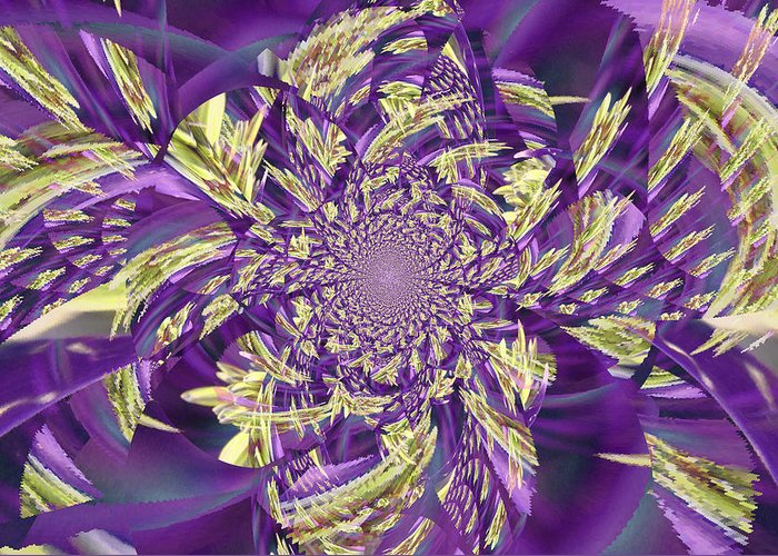 Royal Greeting Card featuring the digital art Royal Purple by Rose Hill