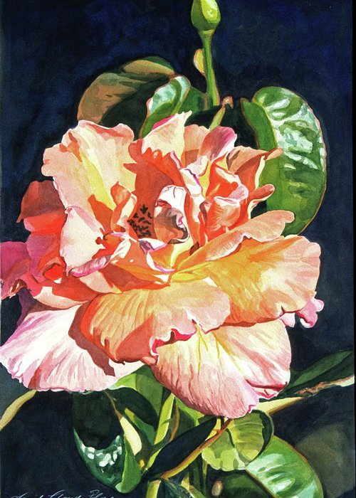 Roses Greeting Card featuring the painting Royal Rose by David Lloyd Glover