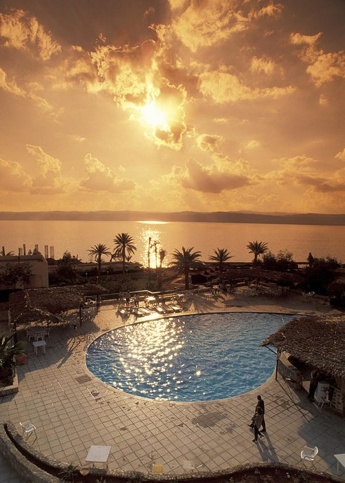 Dead Sea Greeting Card featuring the photograph Royal Suite In The Dead Sea Spa Hotel by Richard Nowitz