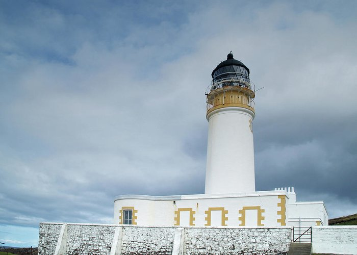 Lighthouse Greeting Card featuring the photograph Rubha Reidh Lighthouse by Steve Watson