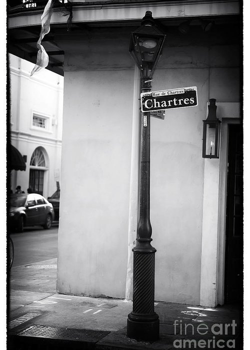 Rue De Chartres Greeting Card featuring the photograph Rue De Chartres by John Rizzuto