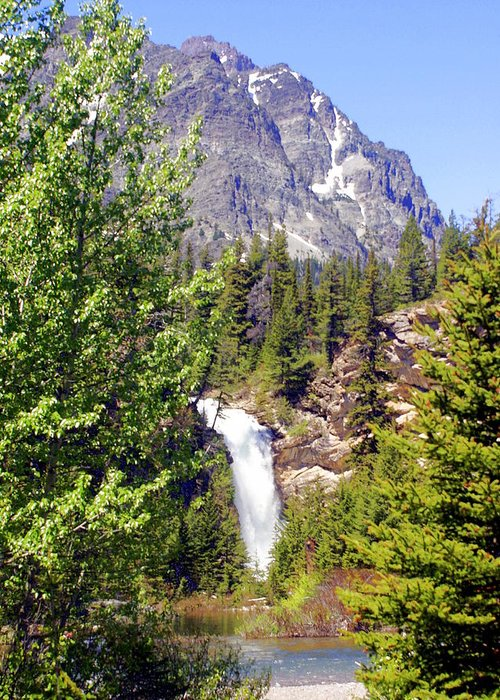 Waterfalls Greeting Card featuring the photograph Running Eagle Falls Glacier National Park by Marty Koch